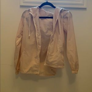 light pink brandy melville wind breaker